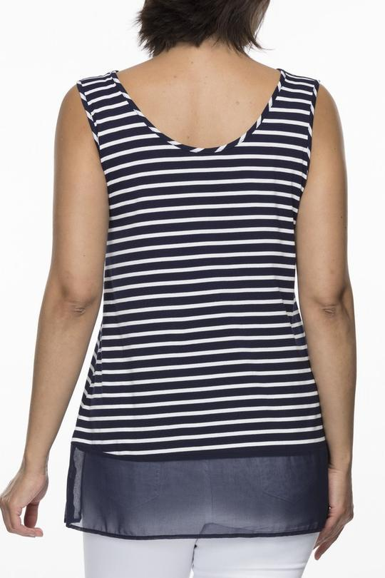 STRIPE REVERSIBLE TANK - THR34968 - Ebony Boutique NZ