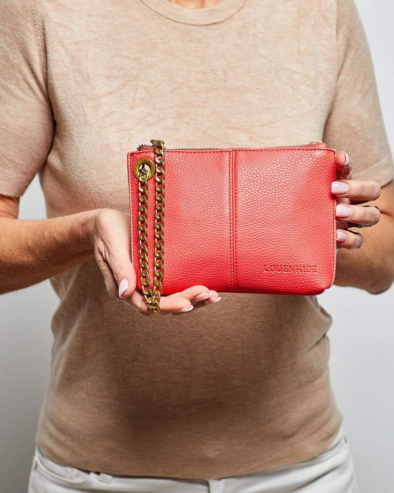TASHA CLUTCH CORAL - TASHA CLUTCH CORAL - Ebony Boutique NZ