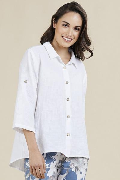 TEXTURED SHIRT - TEXTURED SHIRT - Ebony Boutique NZ