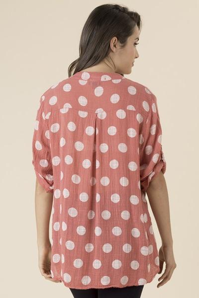 THREADZ NEHRU SPOT TOP - No image set - Ebony Boutique NZ