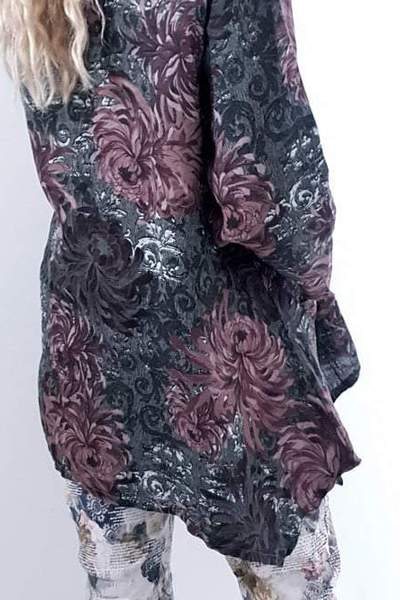 TUNIC WINTER BLOSSOM FOREST - TUNIC WINTER BLOSSOM FOREST - Ebony Boutique NZ