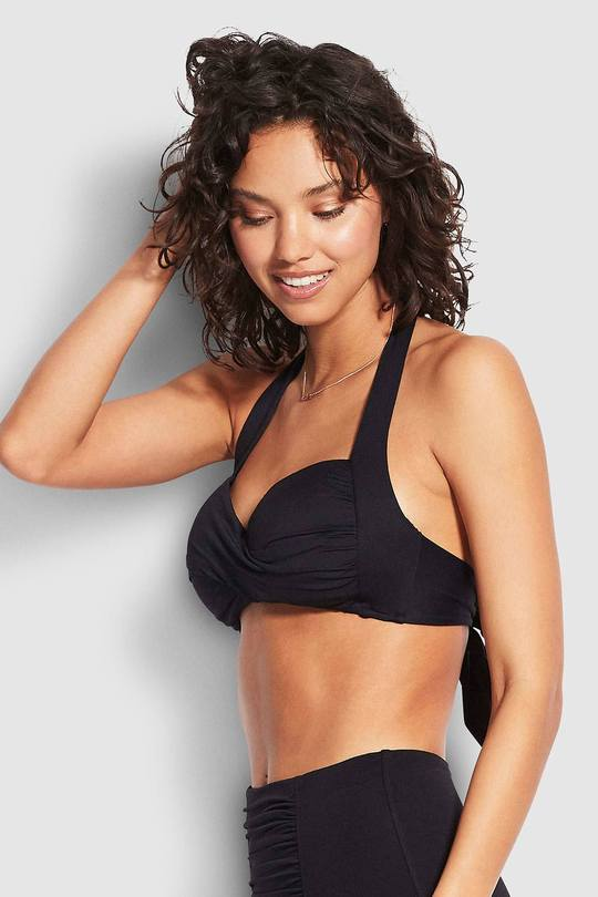 TWIST SOFT CUP HALTER - TWIST SOFT CUP HALTER - Ebony Boutique NZ
