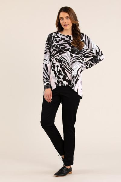 WAVES PRINT TEE - No image set - Ebony Boutique NZ