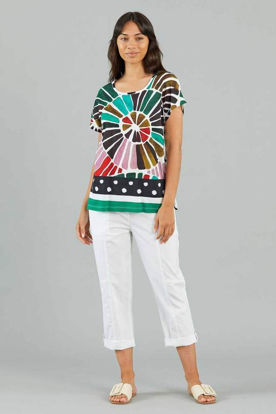 YARRA TRAIL PINWHEEL PRINT TEE - YT21S7131 - Ebony Boutique NZ