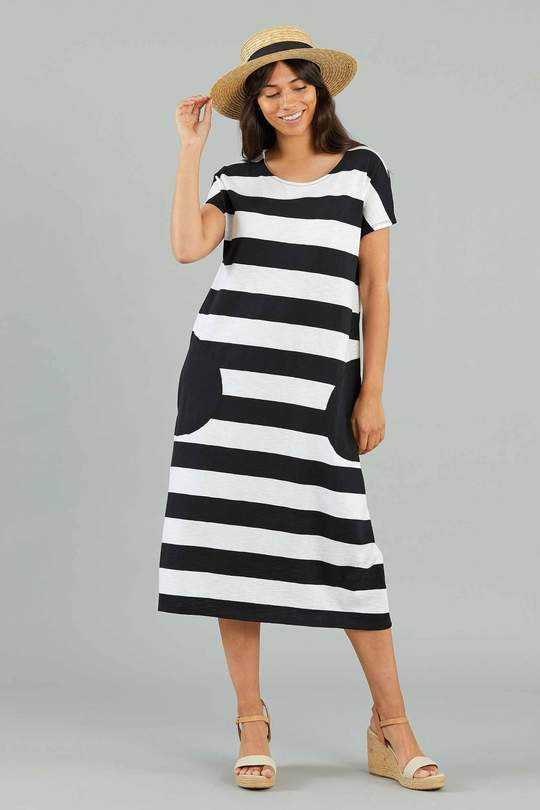 YARRA TRAIL STRIPE DRESS - No image set - Ebony Boutique NZ