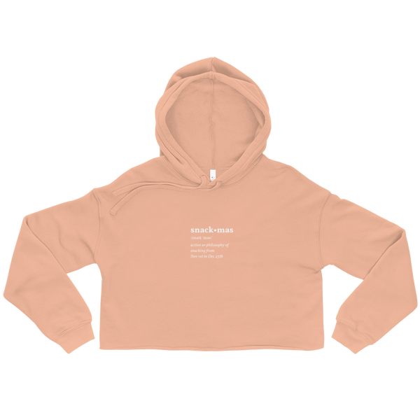Snackmas Definition Cropped Hoodie