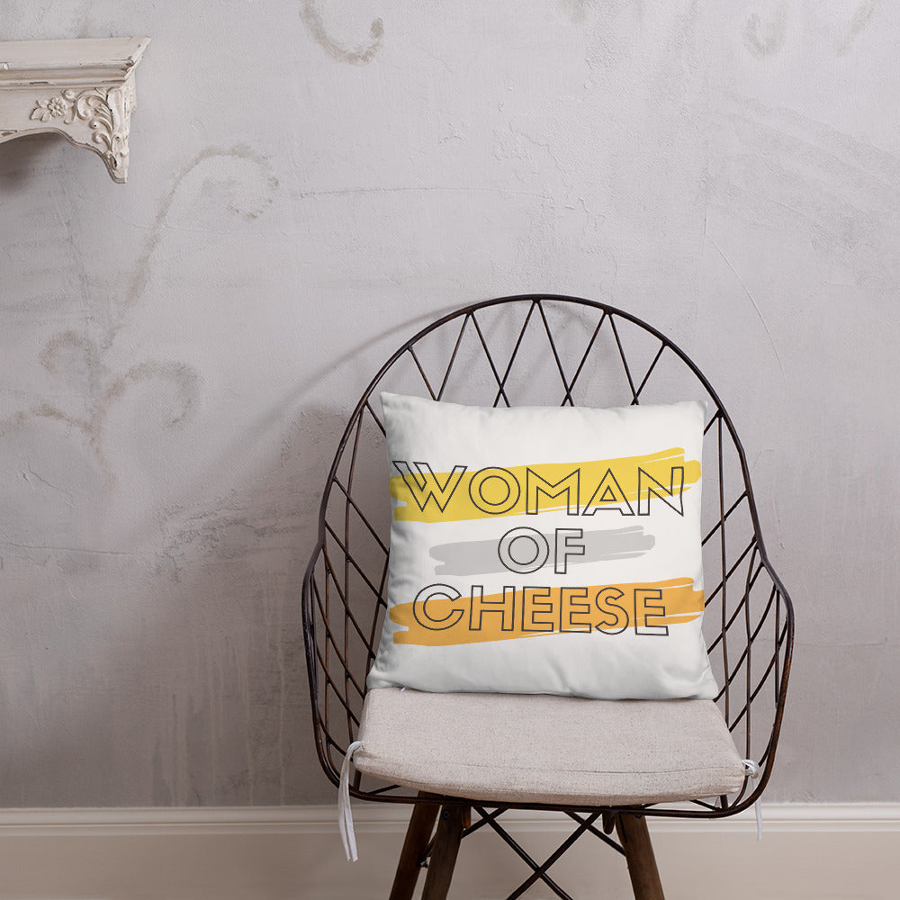 Woman of Cheese Bold Pillow