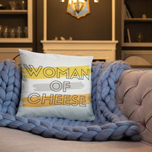 Load image into Gallery viewer, Woman of Cheese Bold Pillow