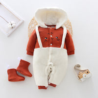 Newborn one-piece thick clothes