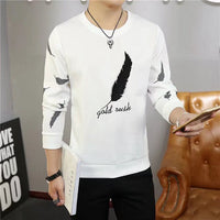 Feather sweater youth casual loose long sleeves