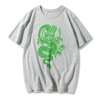 Qinglong fashion printed short-sleeved T-shirt
