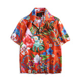 Summer floral print large size casual shirt