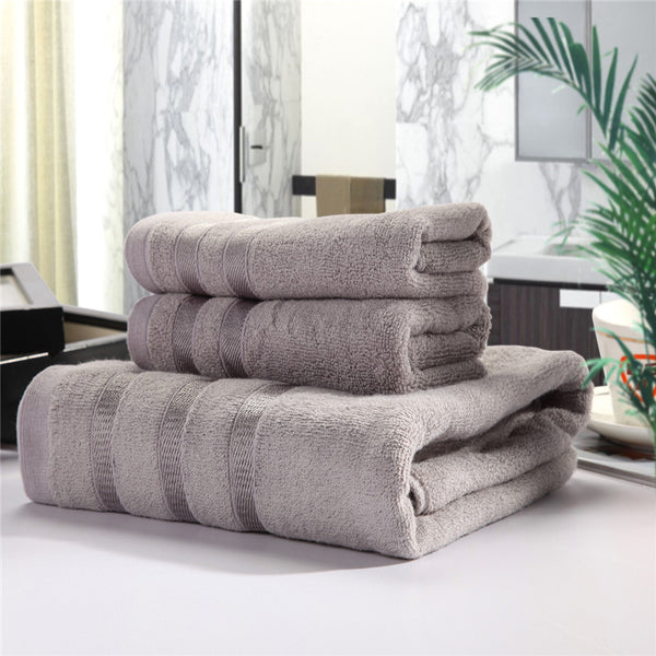Bamboo Towel Set - Antibacterial and Hypoallergenic