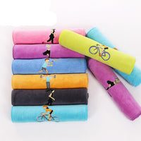 Embroidered sports towel