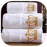 Cotton embroidered towel