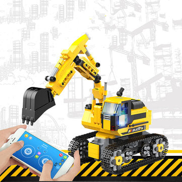 Children Assembled Toys Science Education Intelligent Programming Building Block Excavator Puzzle Creative Gifts for Kids