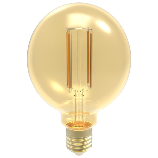 FILAMENT BULB G30 G40 5W 400LM 2200K E26 DIMMABLE 110-130V 4F UL QUALIFIED