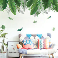 DIY Wall Stickers Tropical Palm Leaves Wall Decal Office Home Living Room Bedroom Decorations