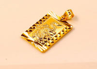 Buddha Light Sparks Small Golden Buddha Pendant Electroplating 24K Gold Guanyin