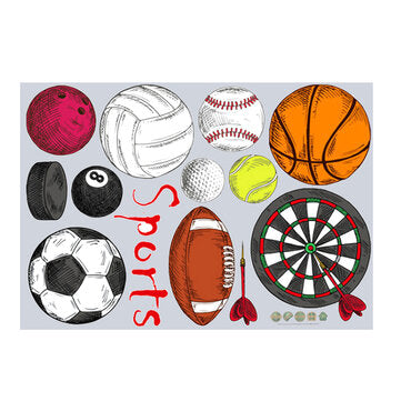 DIY Wall Sticker Decal For Kids Baby Room Nursery Home Decor Sport Basketball Football