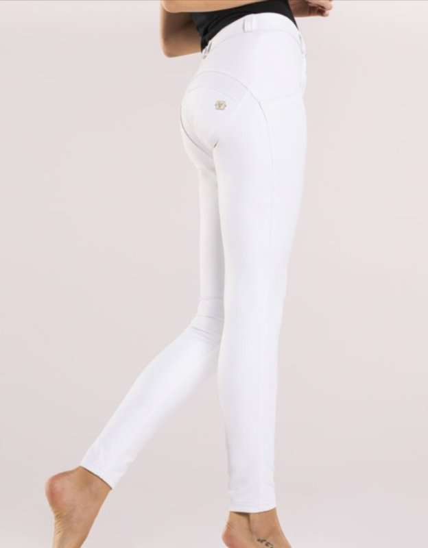 White Leather effect Midrise Freddy Jeans - Style Gallery Clothing