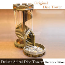 Load image into Gallery viewer, Golden Tower - Spiral Deluxe Dice tower