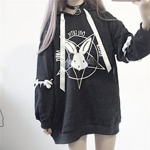 Load image into Gallery viewer, Paris Girl Harajuku Print Lace Up Women Fleece Hoodies