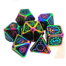 Load image into Gallery viewer, Mana Surge 7pc DnD Metal Dice Set