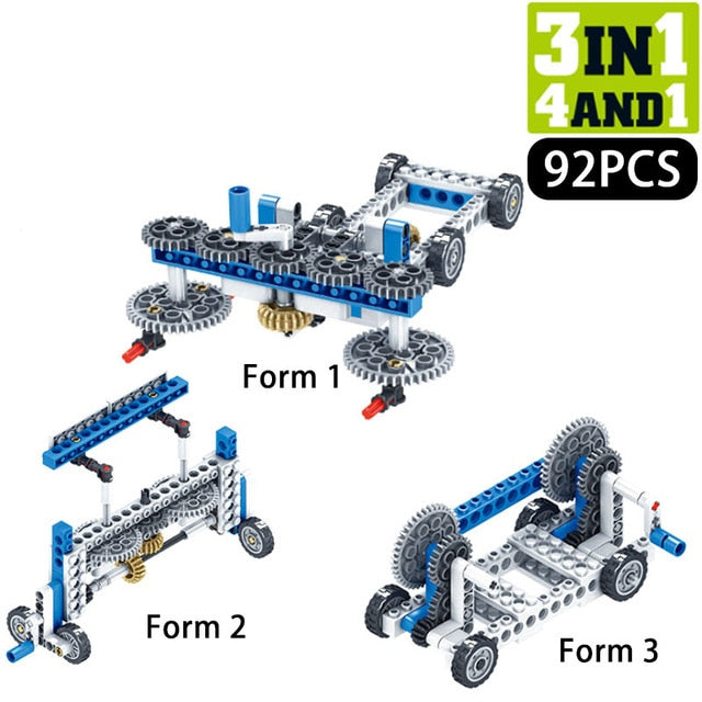 STEM  Mechanical Gear Technic  Engineering Building Blocks