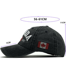 Load image into Gallery viewer, CANADA Embroidery Cotton Baseball Cap