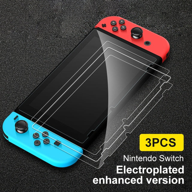 3PCS Screen Tempered Glass Film Protectors For Nintendo Switch