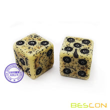Load image into Gallery viewer, Antiqued Ancient Bone Dice 12pcs Set