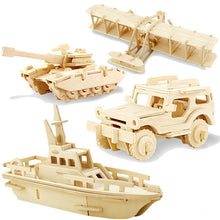 Load image into Gallery viewer, STEM 3D DIY Wood Puzzle Toys Military Series