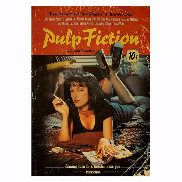 Pulp Fiction Retro Movie Poster