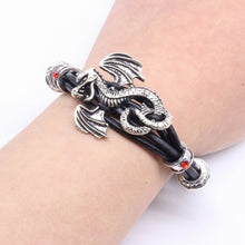 Load image into Gallery viewer, Classic Leather Rope Men's Dragon Bracelet