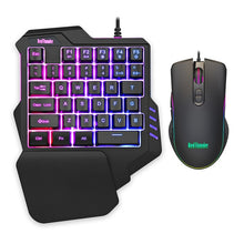 Load image into Gallery viewer, RedThunder One-Handed Mechanical Gaming RGB Backlit Keyboard