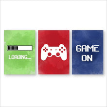Load image into Gallery viewer, Video Game Room Wall Art Canvas Painting