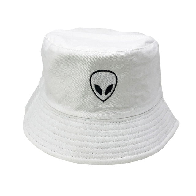 Unisex Embroidered Alien Foldable Hip Hop Bucket Hat
