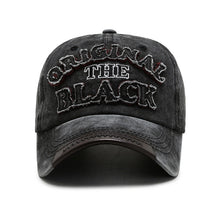 Load image into Gallery viewer, Original The Black Cotton Lettered Baseball Cap