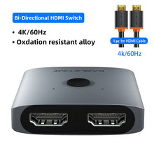 Load image into Gallery viewer, CABLETIME HDMI Splitter 4K 60Hz 1x2/2x1 Adapter