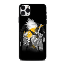 Load image into Gallery viewer, Black TPU Final Fantasy VII New Game Continue Phone Case for iphone11