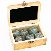 Load image into Gallery viewer, Ivory Fortress 7 Pcs 25mm Giant DND Dice with Wooden Box