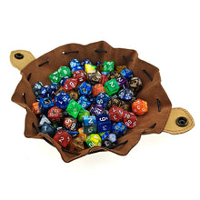 Load image into Gallery viewer, Handmade  Leather Dice Bag  with Yggdrasil Logo