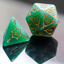 Load image into Gallery viewer, Emerald Fortress 25mm Giant 7Pcs DnD Dice Set with Wooden Box
