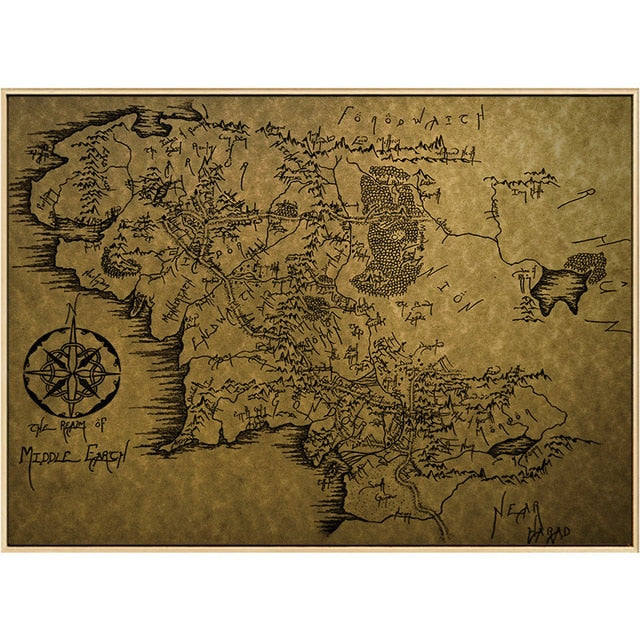 Middle-Earth Map Movie Posters And Prints