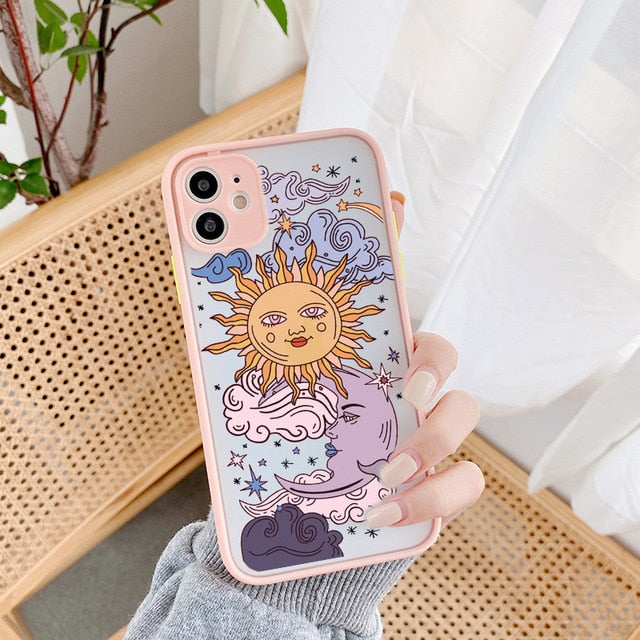 JAMULAR Sun and Moon Face Shockproof Phone Case For iPhone