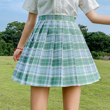 Load image into Gallery viewer, Women's Kawaii Plaid Preppy Cosplay Pleated Skirt