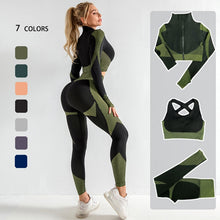 Load image into Gallery viewer, Seamless Fitness Women's Yoga Suit 2-3PCS/Set