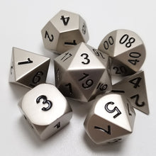Load image into Gallery viewer, Solid State Metal Dice Set