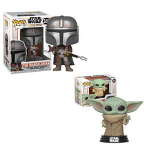 Load image into Gallery viewer, Funko Pop STAR WARS THE MANDALORIAN & Baby Yoda Action Figures